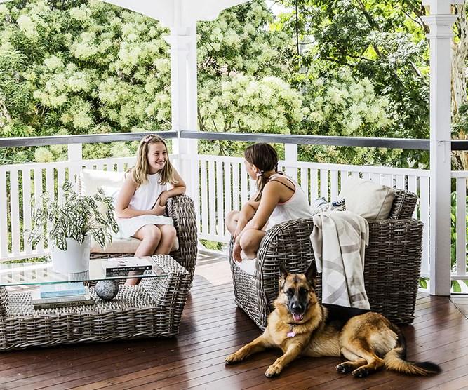 family outdoor verandah